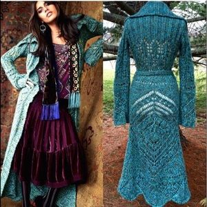 Free People crochet Budapest Daydream Long Duster
